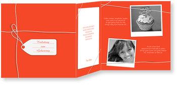 Einladungskarten Geburtstag, Ein Geschenk in Rot