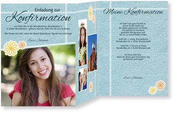 Einladungskarten Konfirmation, Scrapbook