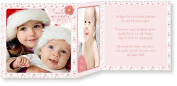 Weihnachtskarten Baby, Kleines Weihnachtsblümchen