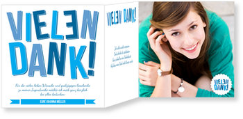 Danksagungskarten Jugendweihe selbst gestalten, Große Buchstaben