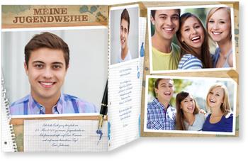Einladungskarten Jugendweihe, Retro Paper
