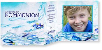 Einladungskarten Kommunion, Fische