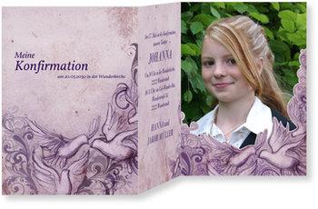 Einladungskarten Konfirmation, Heilige Taube