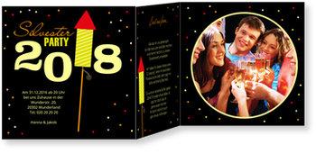 Silvesterkarten, Rakete