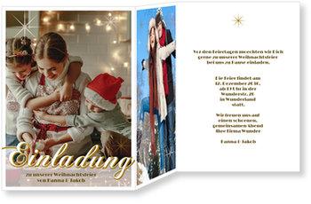 Einladung Weihnachtsfeier, Glitzerndes Fest