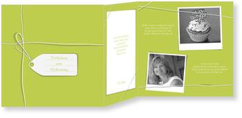 Einladungskarten 50. Geburtstag, Ein Geschenk in Grün