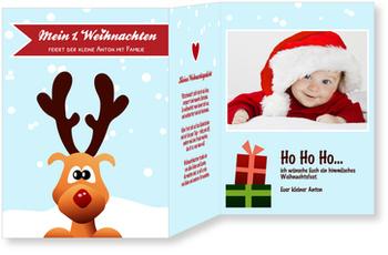 Weihnachtskarten Baby, Kleines Rentier