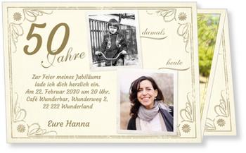 Einladungskarten 50. Geburtstag, Vintage