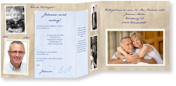 Einladungskarten 60. Geburtstag, Erinnerungsalbum