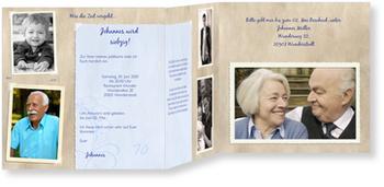Einladungskarten 70. Geburtstag, Erinnerungsalbum