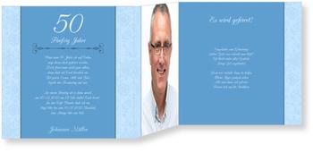 Einladungskarten 50. Geburtstag, Muster