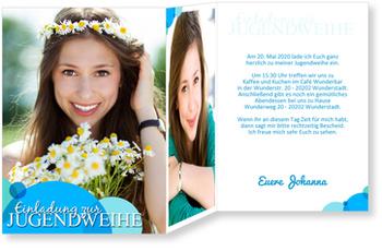 Einladungskarten Jugendweihe, Seifenblase