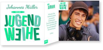 Einladungskarten Jugendweihe, Große Buchstaben in Grün