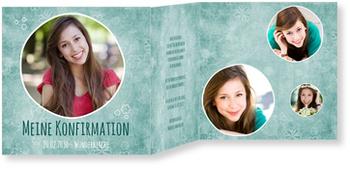 Einladungskarten Konfirmation, Florale Konfirmation
