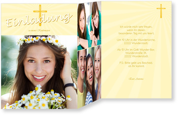 Einladungskarten Konfirmation, Heiliges Kreuz