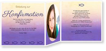 Einladungskarten Konfirmation, Ziervolle Ichthys