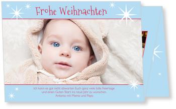 Weihnachtskarten Baby, Sternchen