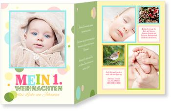Weihnachtskarten Baby, Weihnachtspunkte