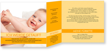 Einladungskarten Taufe, Meine schöne Taufe