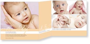 Einladungskarten Taufe, Meine Taufzeremonie in Orange