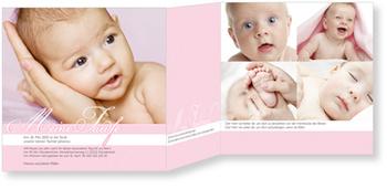 Einladungskarten Taufe, Meine Taufzeremonie in Rosa