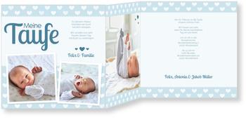 Einladungskarten Taufe, Herzilein