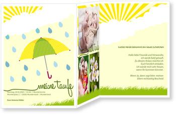 Einladungskarten Taufe, Regenschirm