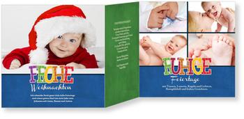 Weihnachtskarten Baby, Frohe Schrift