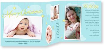 Weihnachtskarten Baby, Weihnachtshimmel
