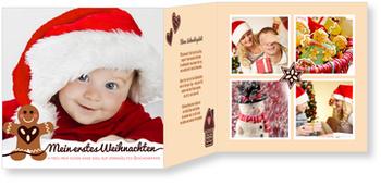 Weihnachtskarten Baby, Lebkuchenmännchen