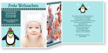 Weihnachtskarten Baby, Pinguin