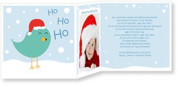 Weihnachtskarten Baby, Weihnachtspiepmatz