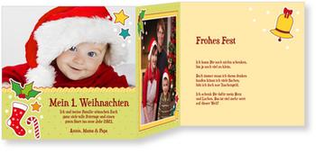 Weihnachtskarten Baby, Weihnachtspünktchen