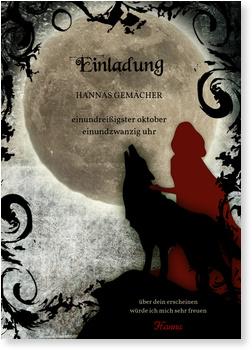 Einladungskarten Halloween , Vollmond