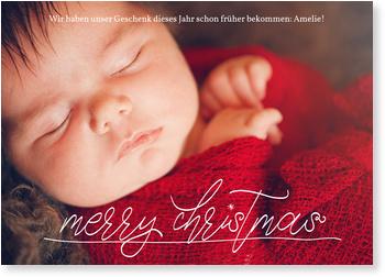 Weihnachtskarten Baby, Handschriftlich