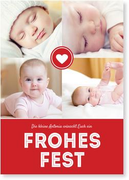 Weihnachtskarten Baby, Herzliche Weihnacht