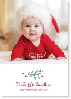 Weihnachtskarten Baby, Kleiner Zweig