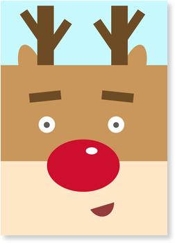 Weihnachtskarten Baby, Rentier Selfie