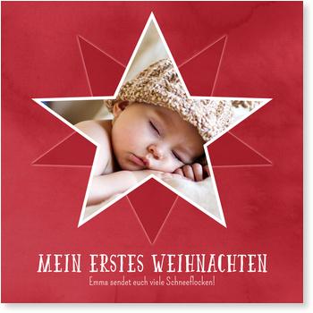Weihnachtskarten Baby, Weihnachtssternchen