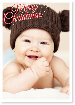Weihnachtskarten Baby, Winterspaß