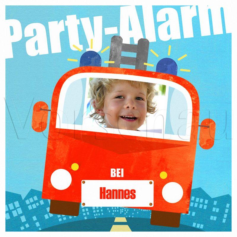 ... > Einladungskarten Kindergeburtstag > Feuerwehrparty