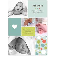 Babykarte Patchwork