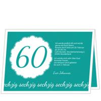 Elegante Einladung zum Sechzigsten