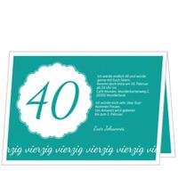Elegante Einladung zum Vierzigsten