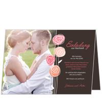 Hochzeitsröschen in Braun
