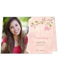 Magnolienzweig in Rosa