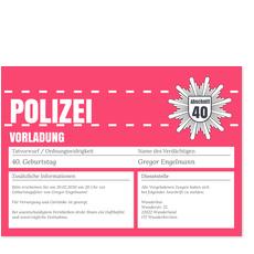 Polizeiliche Vorladung in Rosa