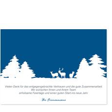 Schneelandschaft - Blau
