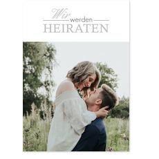 Romantische Schrift in Grau