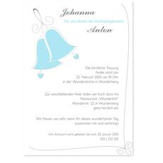 Hochzeitsglocken in Hellblau
